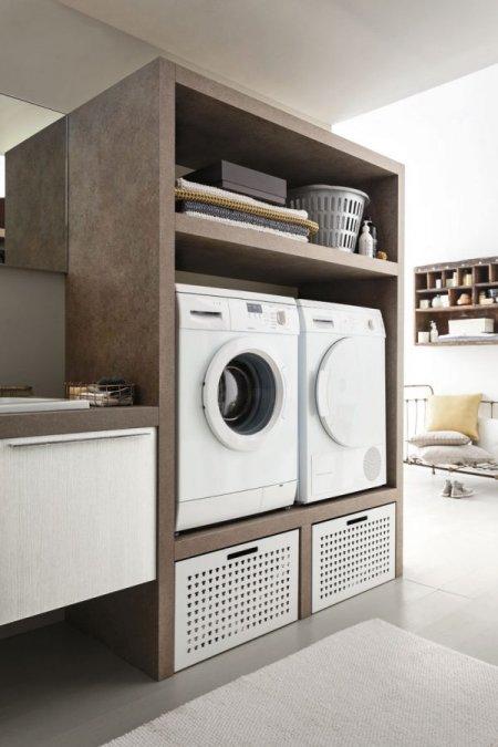 Mobili e arredamento per la lavanderia del tuo bagno for Arredamento particolare per la casa