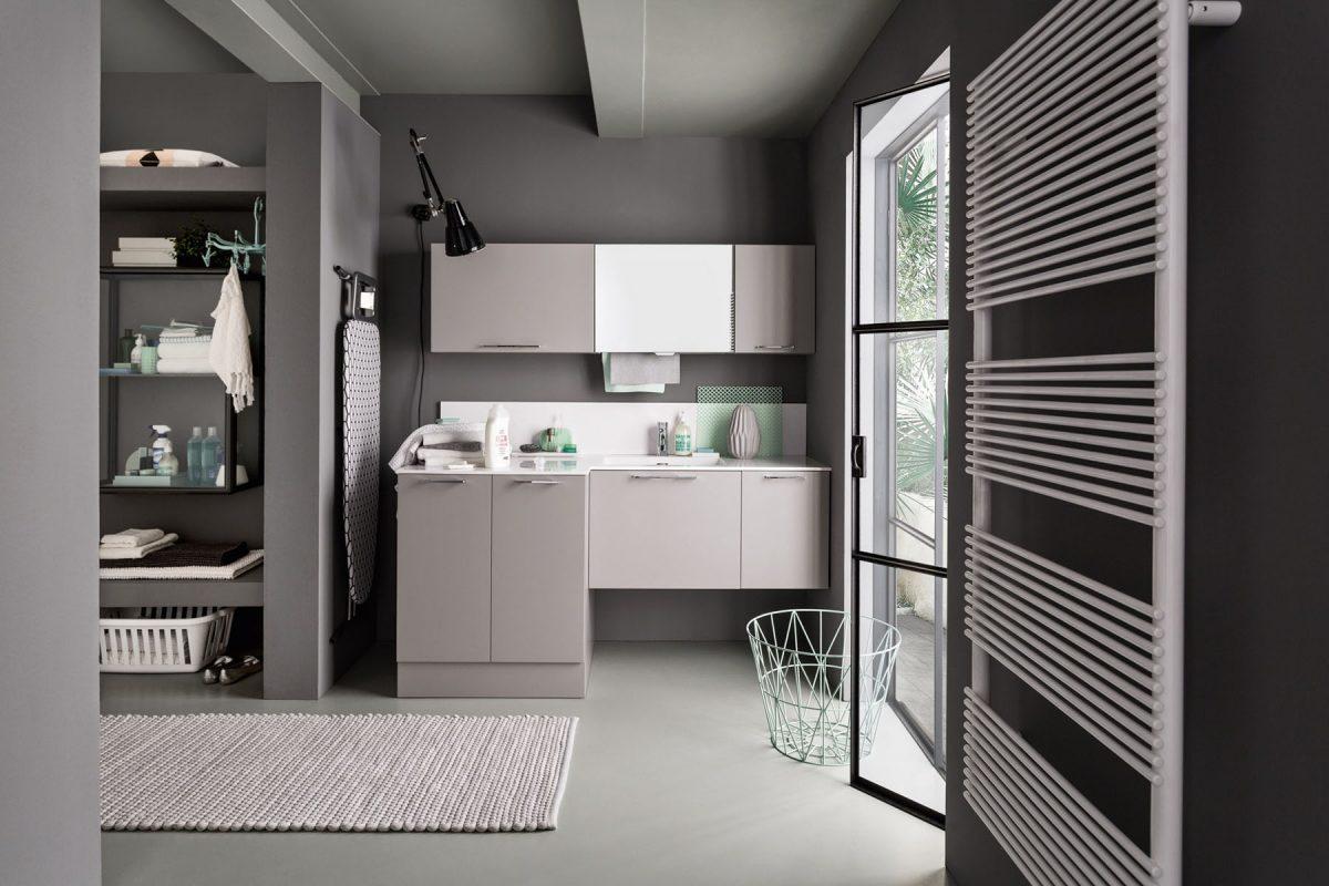 Mobili e arredamento per la lavanderia del tuo bagno - Bagno di servizio con lavanderia ...