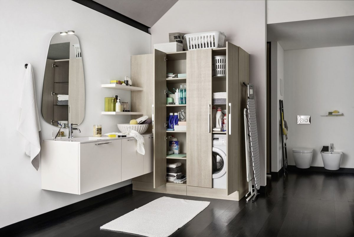 Mobili e arredamento per la lavanderia del tuo bagno ...